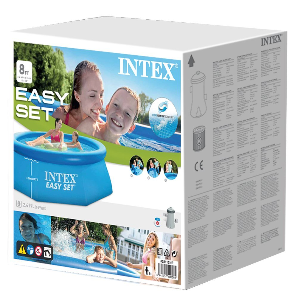 Intex 28112 gartenpool easy set pool mit filterpumpe for Gartenpool mit pumpe
