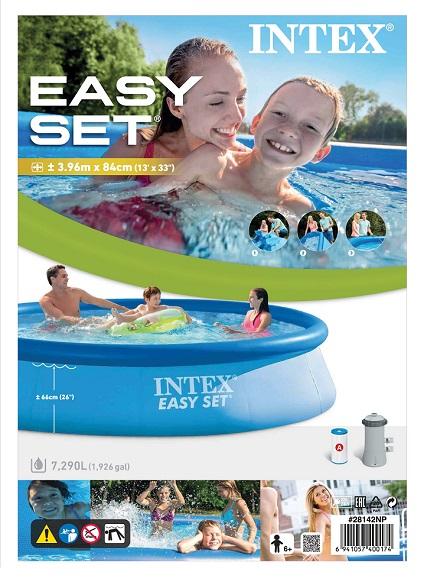 Intex 28142 swimming pool easy set gartenpool mit for Gartenpool ebay