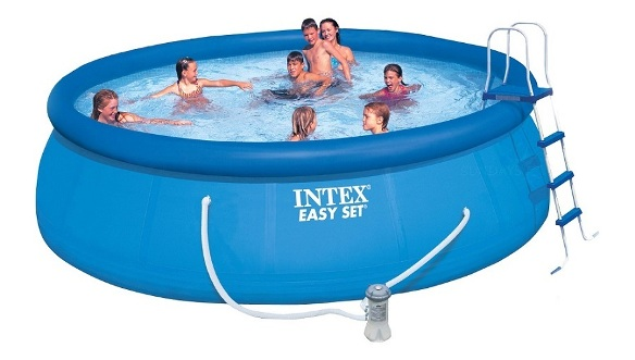 Intex 28168 swimming pool easy set 457x122 komplettset for Swimmingpool abdeckplane