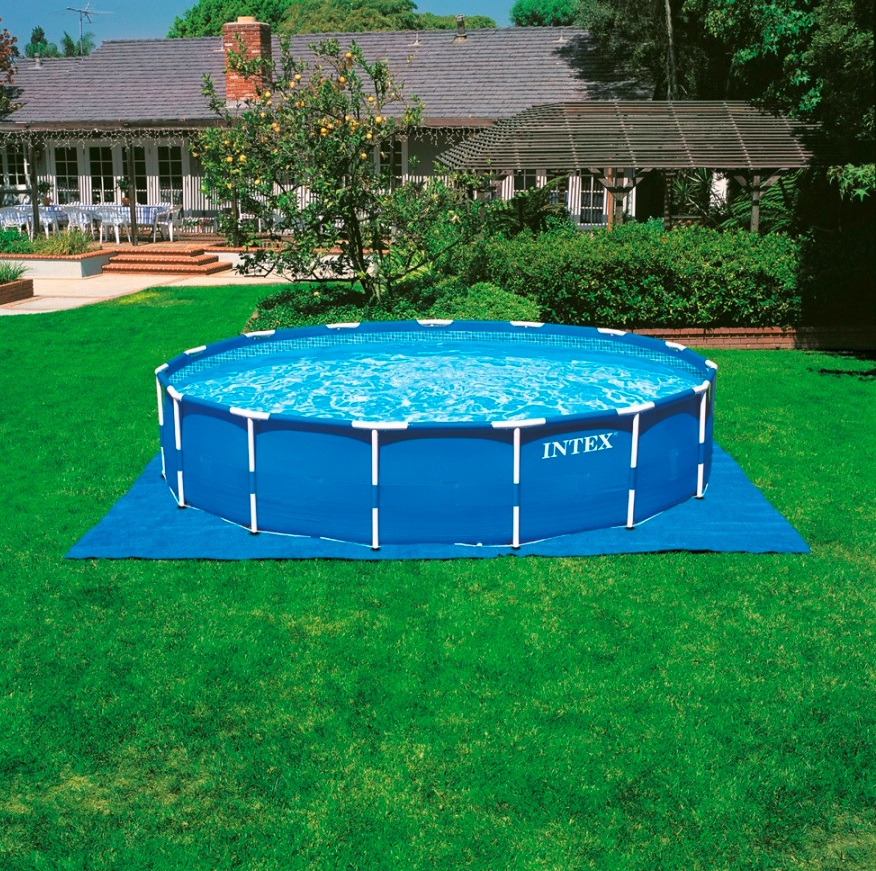 Intex 28234 frame pool swimmingpool familienpool for Swimming pool unterlage