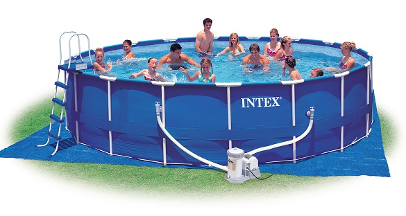 intex 28252 metal frame pool swimmingpool familienpool. Black Bedroom Furniture Sets. Home Design Ideas