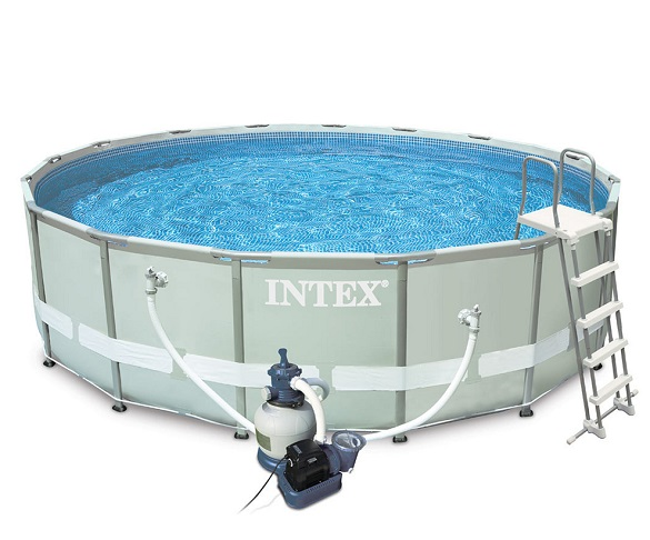 intex 28324 ultra frame pool set swimmingpool familienpool. Black Bedroom Furniture Sets. Home Design Ideas