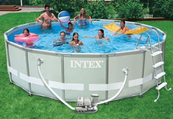 Intex 28328 easy gartenpool ultra metal frame pool set for Gartenpool metall