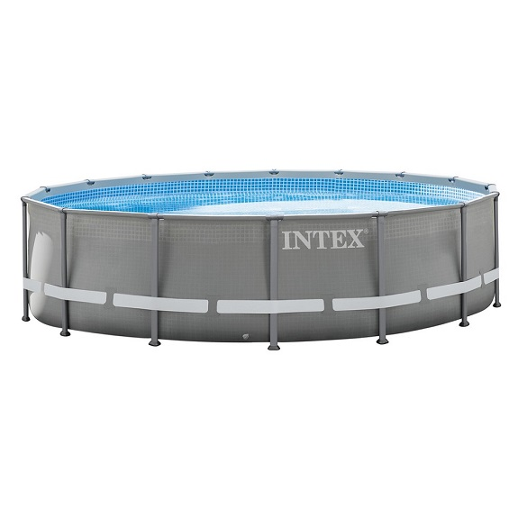 intex 28712 metal frame pool komplett set swimmingpool. Black Bedroom Furniture Sets. Home Design Ideas