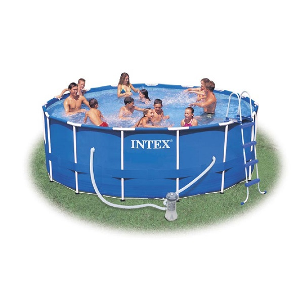 intex 28234 frame pool swimmingpool familienpool planschbecken schwimmbad ebay. Black Bedroom Furniture Sets. Home Design Ideas